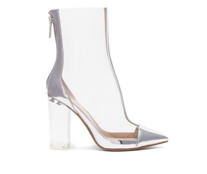 Прозрачная , обувь
