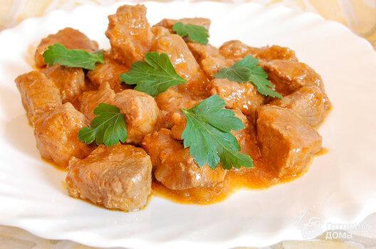 Жареное мясо, накормить