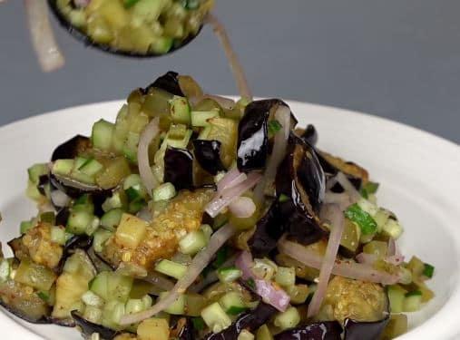 Салат с баклажанами, баклажаны