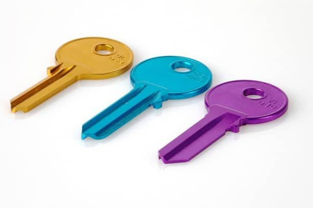 разнацветные ключи