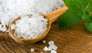 Посыпьте растение соляной солью