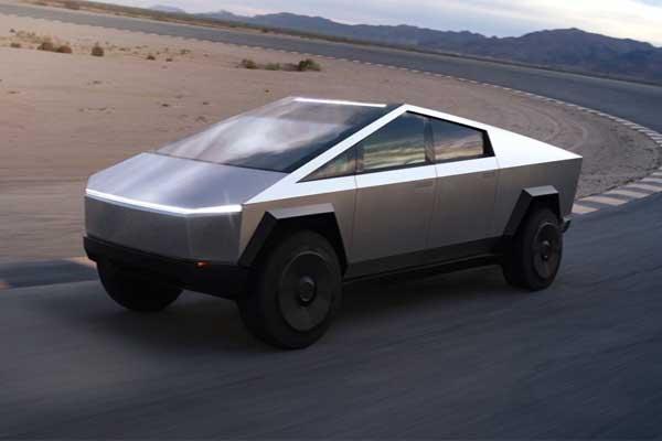 Тесла может похвастаться электрическим грузовиком. Cybertruck выглядит как вытащенный из фильма о Джеймсе Бонде